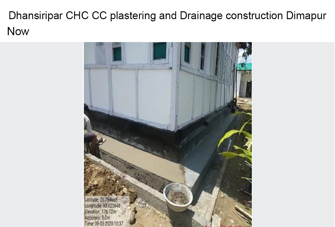 Dhansiripar-CHC-CC-plastering-and-Drainage-construction-Dimapur-now