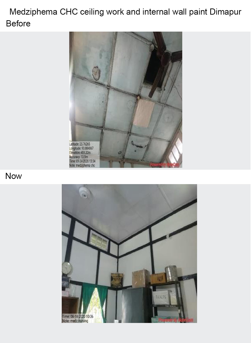 Medziphema-CHC-ceiling-work-and-internal-wall-paint-Dimapur