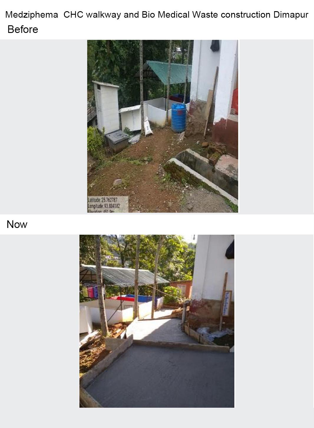Medziphema--CHC-walkway-and-Bio-Medical-Waste-construction-Dimapur