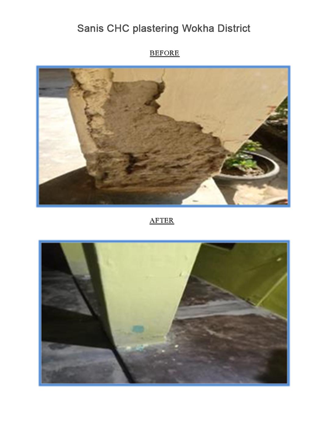 Sanis-CHC-plastering-Wokha-District