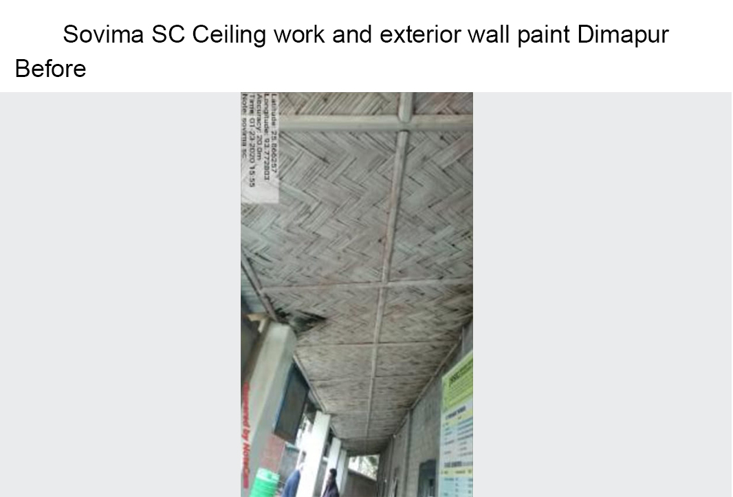 Sovima-SC-Ceiling-work-and-exterior-wall-paint-Dimapur-before