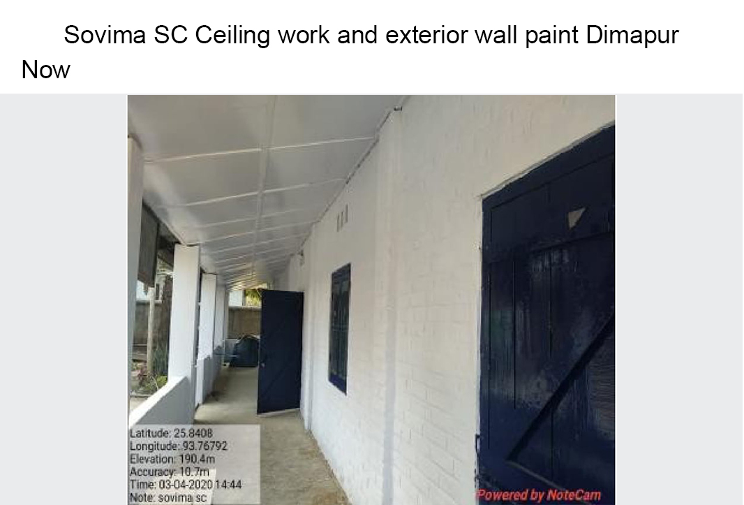 Sovima-SC-Ceiling-work-and-exterior-wall-paint-Dimapur-now