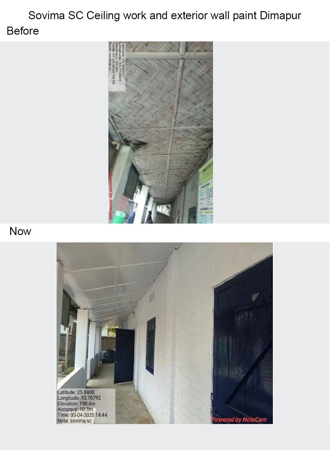 Sovima-SC-Ceiling-work-and-exterior-wall-paint-Dimapur